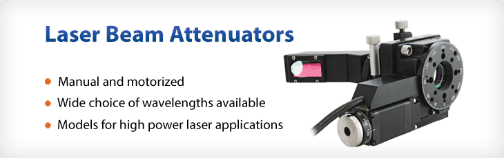 Laser beam attenuators