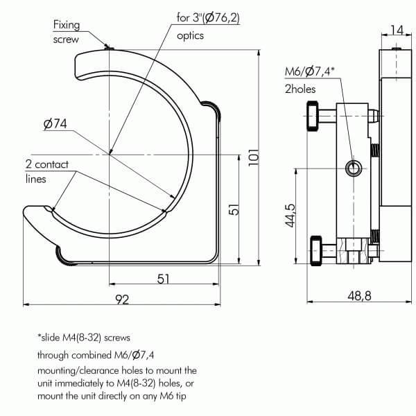 Kinematic Mirror / Beamsplitter Mounts 840-0056_1