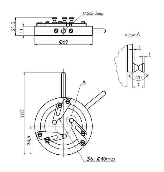 Self-Centering Lens/Optics Mounts 830-0025_1