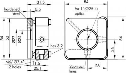 Kinematic Mirror/Beamsplitter Mounts (Al) 840-0032, 840-0033_1