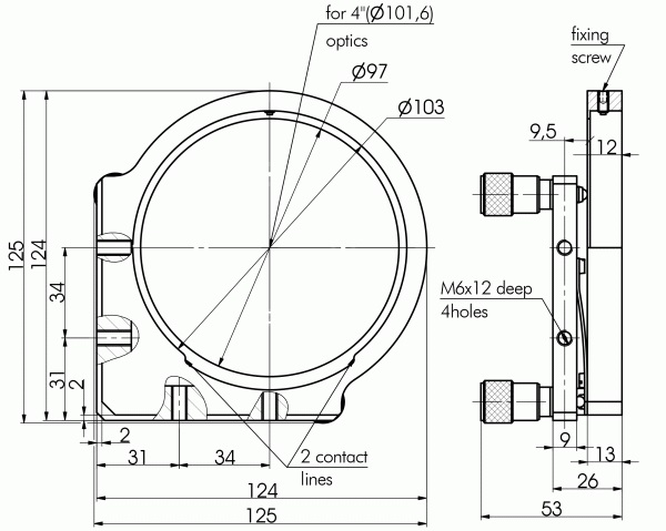 Precision & High Stability Mirror/Beamsplitter Mounts 840-0036_1