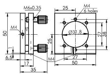 Large Aperture Optical Mount 840-0053_1