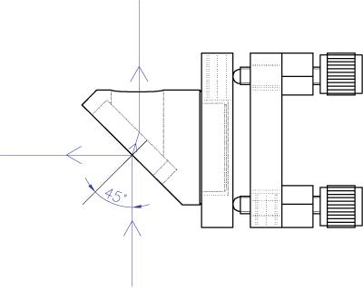 Adapter for Beamsplitter at 45 deg 840-0116_1