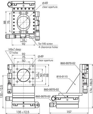 Low Profile Aluminium Translation Stages 860-0070_1