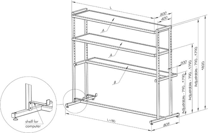 Instrument Shelves Optical Tables Eksma Optics
