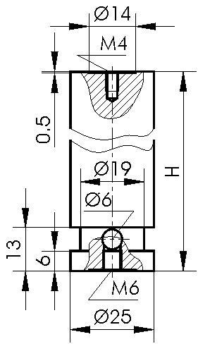 Fixed Pedestals 820-0055