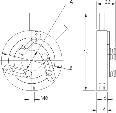 Self-Centring Lens Mounts 830-0010, 830-0020