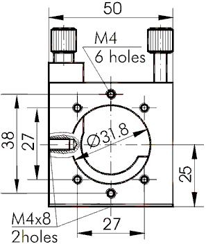 Large Aperture Optical Mount 840-0150-T