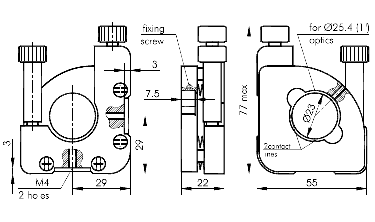 Kinematic Positioning Mount 840-0193