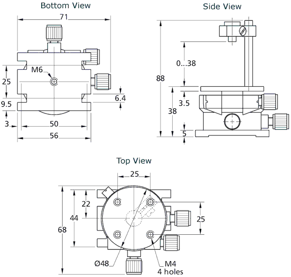 Tilt/Rotation Stage 860-0110