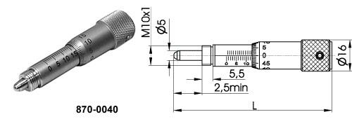 Micrometer Screws 870-0040