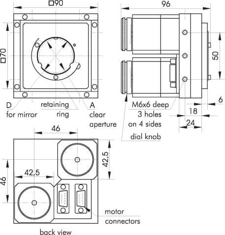 Motorized Mirror Mounts 940-0050