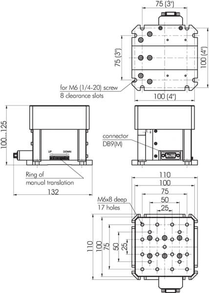 Motorized Vertical Stage 940-0210