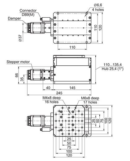 Motorized Precision Vertical Positioner 940-0218