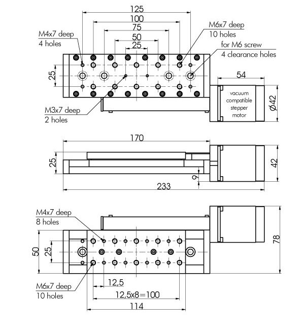 Vacuum Compatible Motorized Stages 960-0060V
