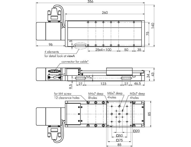 Motorized Translation Stage with SM System 960-0095SM