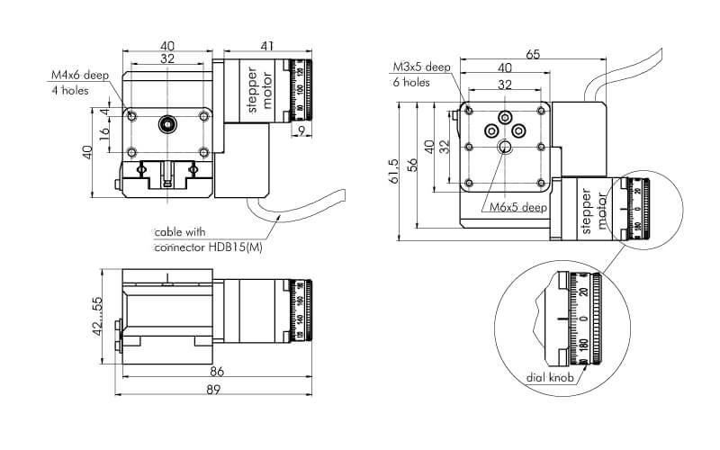 Motorized Vertical Translation Stage 960-0199