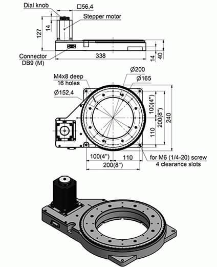 Large Motorized Rotation Stage 960-0250