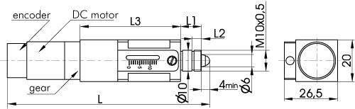 Ultra-High Resolution Compact Motorized Actuator (DC Motor) 970-0067