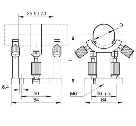 Adjustable Laser/Laser Head Holder 850-0095