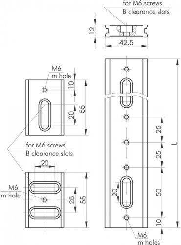 Steel Optical Rails 810-0010