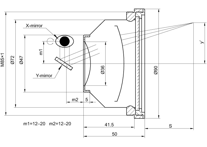 F-Theta Lens for 532 nm