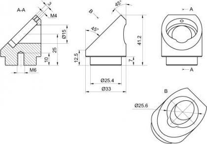 Adapter for Beamsplitter at 45 deg 840-0116_2