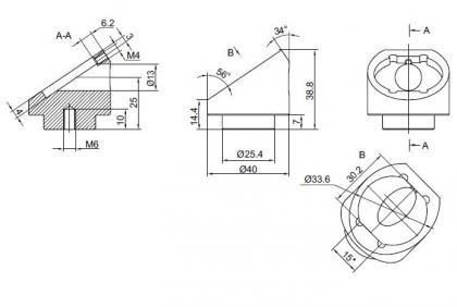 Adapter for Rectangular Polarizer at 56 deg 840-0118_2