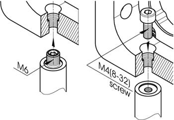Kinematic Mirror/Beamsplitter Mounts (Al) 840-0032, 840-0033