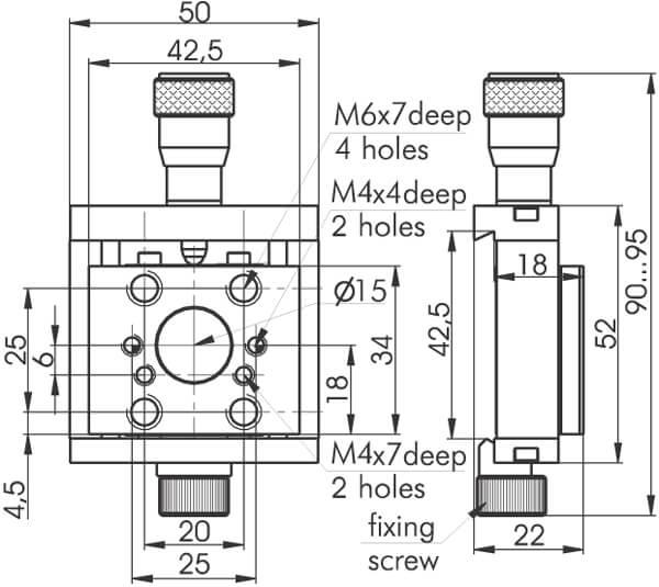 Mini Rail System Ball Slide Positioners 860-0090-02, 860-0090-04