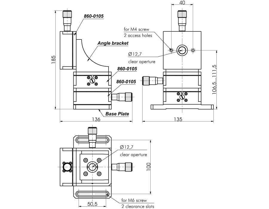 Linear Flexure Translation Stage 860-0105