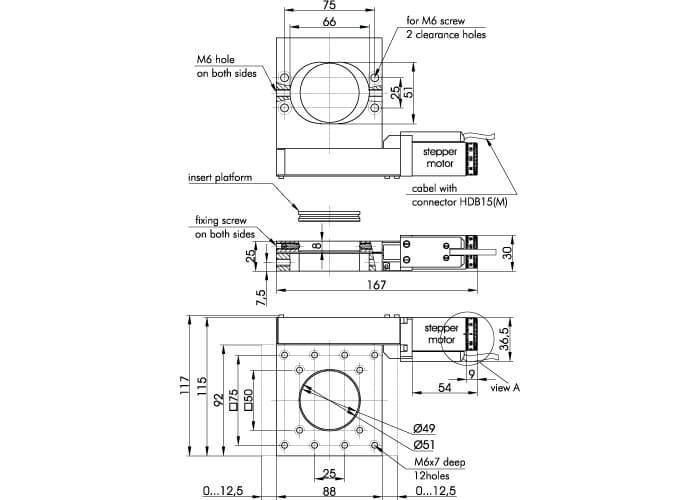 Motorized Translation Stage 960-0070-02