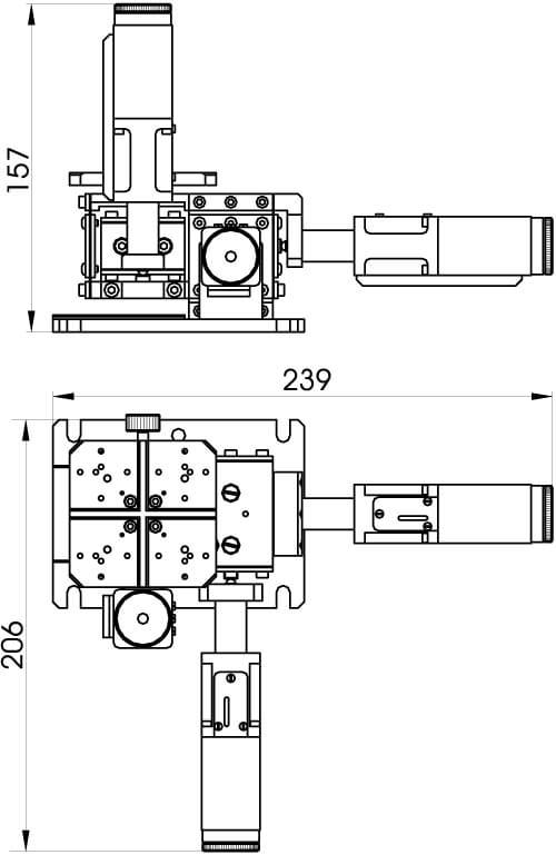 Motorized Fiber Coupling Stage 970-0070