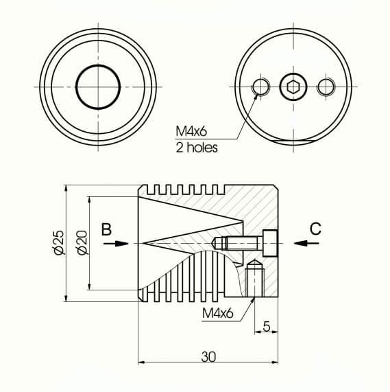 Air-Cooled Beam Dumps 990-0800