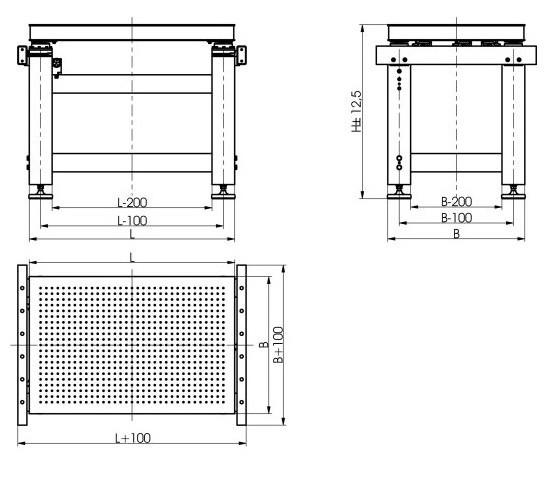Pneumatic Vibration Isolation Workstation 740W