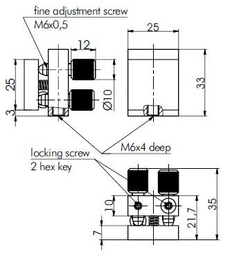 Lock Screws Mirror Mounts 840-0080