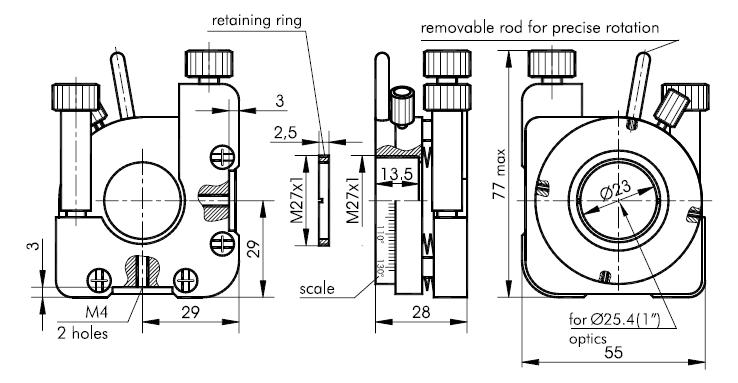 Positioning Mount 840-0199 for Nonlinear Crystal Housing