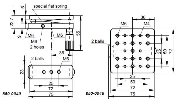 Single Axis Tilt Stage 850-0040