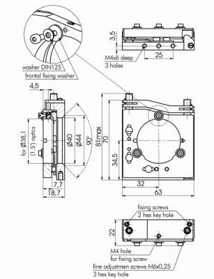 Kinematic Vertical Drive Optical Mount/Vertical Drive Optical Mount 840-0220, 840-0225_3