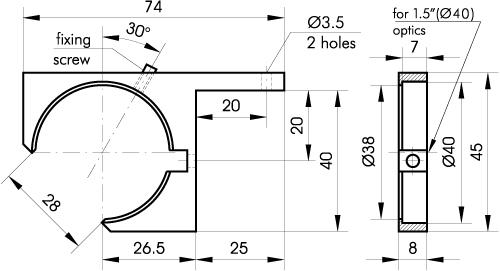 Round Optics Adapters 840-0110-A1