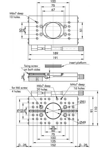 Low Profile Aluminium Translation Stages 860-0070