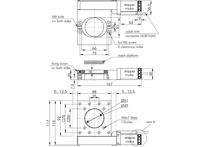 Motorized Translation Stage 960-0070-02