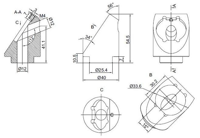 Adapter for Rectangular Polarizer at 56 deg 840-0118