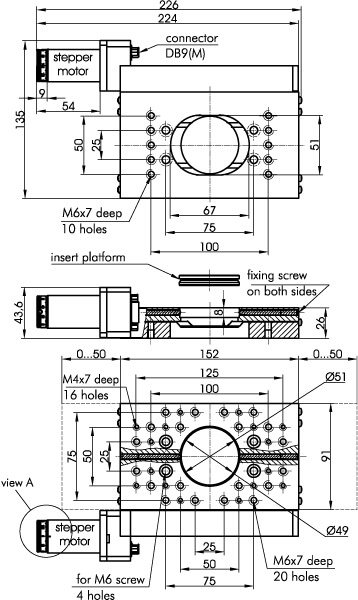 Motorized Translation Stage 960-0070-04