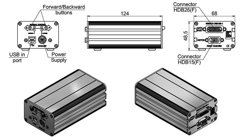 Stepper & DC Motor Controller 980-0045-USB