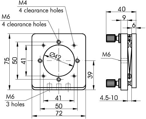 Precision & High Stability Optics Mounts 840-0040, 840-0050