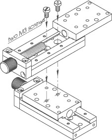 Non-Magnetic Linear Translation Stage 860-0056