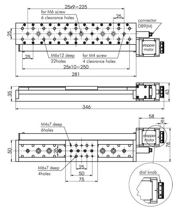 Medium (width 50 mm) Motorized Translation Stages 960-0060