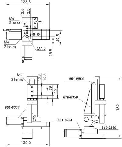 Narrow Motorized Translation Stages with DC Motor 961-0060, 962-0060