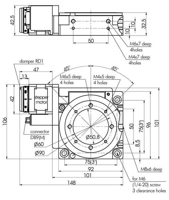 Motorized Rotation Stages 960-0140